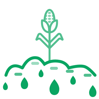monitoring water stress on the crops